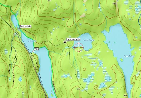Kart over Lunaas´s nærområde