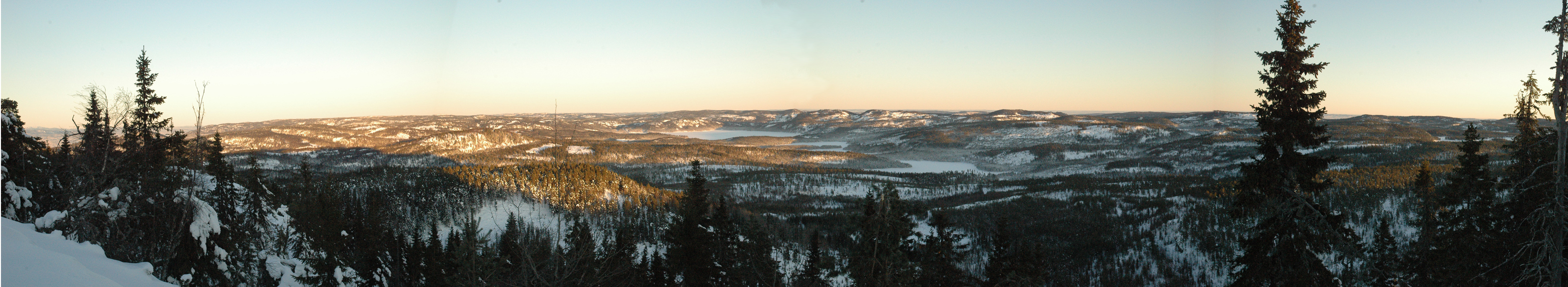 Orkla skal selge sin Finnemarkaeiendom.  Her ser du viktige deler av den i sentrale Finnemarka.