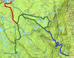 Storsteinsfjellrunden kart