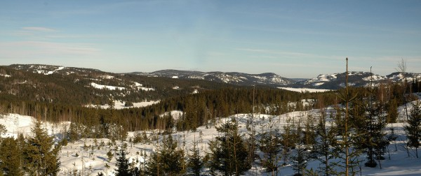 Utsikt mot Jøssjø og Glitre